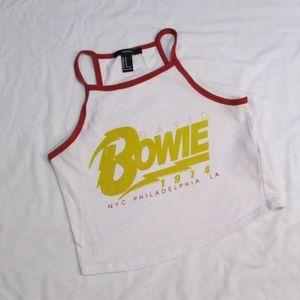 David Bowie x Forever 21 1974 Tour Crop Camisole